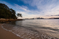 Plage de port de Sydney Photos stock