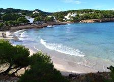 Plage de Portinatx dans Ibiza, Espagne Photos stock