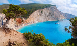 Plage de Porto Katsiki, île de Leucade, Grèce Image libre de droits
