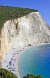 Plage de Porto Katsiki ; Leucade, Grèce images stock