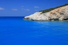 Plage de Porto Katsiki sur l'île ionienne de Lefkas Photo libre de droits