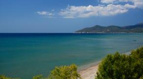 Plage de Potokaki Île de Samos La Grèce Image stock