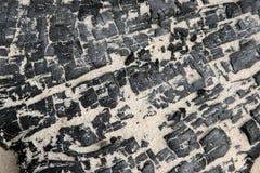 Plage de procédure de connexion de charbon de bois Images stock