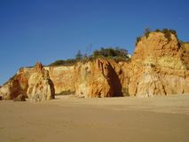 Plage 6 de Protugal Algarve Photos stock