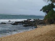 Plage de Puamana, Maui Photo stock