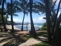 Plage de Puamana, Maui Photos libres de droits