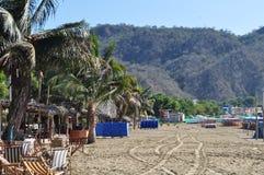 Plage de Puerto Lopez Images libres de droits