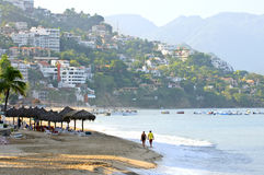 Plage de Puerto Vallarta, Mexique Photographie stock