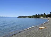 Plage de Qualicum, île de Vancouver image stock