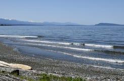 Plage de Qualicum, île de Vancouver Photos libres de droits