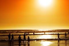 Plage de région sauvage au coucher du soleil, Afrique du Sud Photo libre de droits