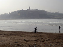 Plage de Rabat, Maroc Images libres de droits