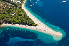 Plage de rat de Zlatni Photos stock