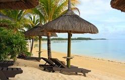 Plage de ressource des Îles Maurice photo libre de droits
