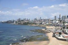 Plage de Rio Vermelho, dans Salvador, photographie stock libre de droits