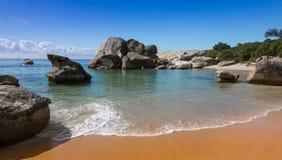 Plage de rochers à Cape Town Image libre de droits