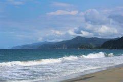 Plage de Rosa de La sur la côte du Venezuela près de Puerto Cabello Image libre de droits