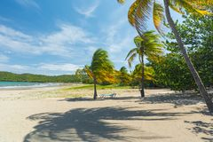Plage de sable au Cuba Photographie stock libre de droits