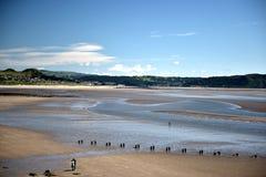 Plage de sable d'océan photographie stock