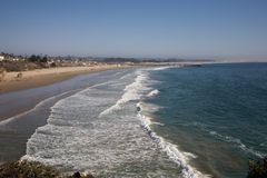 Plage de sable de la Californie images stock