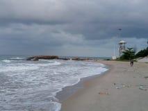 Plage de sable de mer photos libres de droits