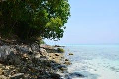 Plage de sable de mer Photo stock