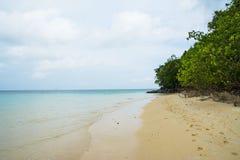 Plage de sable de mer Photos stock