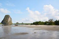 Plage de sable de mer Image libre de droits