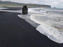 Plage 3 de sable de noir de l'Islande Image libre de droits