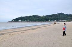Plage de sable de noir du Macao Photos libres de droits