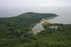 Plage de sable en parc national d'Acadia, Maine photo stock