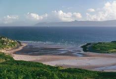 Plage de sable, péninsule d'Applecross Images libres de droits
