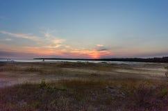 Plage de sables de chant chez Bruce Peninsula image stock