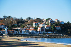 Plage de Saint-Jean-De-Luz Photos stock