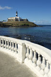 Plage de Salvador Brazil Farol da Barra Lighthouse Photos libres de droits