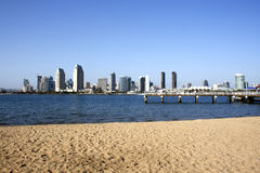 Plage de San Diego Photos stock