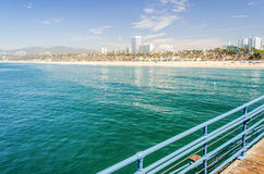 Plage de Santa Monica, la Californie, Etats-Unis Photo stock