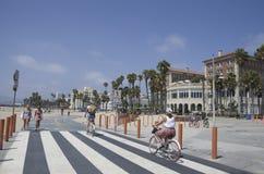 Plage de Santa Monica, Los Angeles, la Californie Photo stock