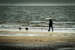 Plage de Seamill un jour orageux Photo libre de droits