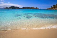 Plage de Senora de remèdes de charlatan dans des îles d'Islas Cies de Vigo photo stock