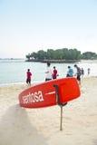 Plage de Sentosa, Singapour photographie stock libre de droits