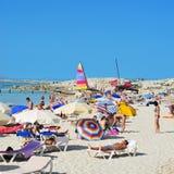 Plage de Ses Illetes à Formentera, Îles Baléares Photographie stock