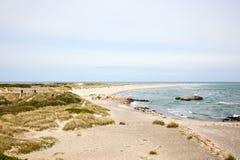 Plage de Skagen images libres de droits