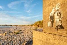 Plage de Sola en dehors de Stavanger, Norvège photos stock