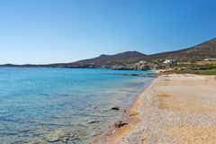 Plage de Soros d'Antiparos, Grèce Photo libre de droits