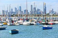 Plage de St Kilda à Melbourne Photo stock