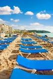 Plage de station de vacances de Lloret de Mar Costa Brava l'espagne photo libre de droits