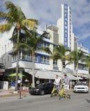 Plage de sud de brise-lames d'hôtel Photos libres de droits