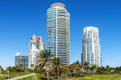 Plage de sud de Miami images stock