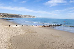Plage de Swanage, Dorset Photographie stock